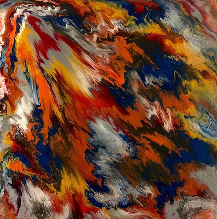 Alive - Abstract Fluid Acryic Art - Mixed Media