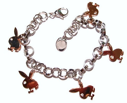 SSB5803 CZ Copper Bunny Stainless Steel Bracelet