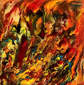 Admiration - Abstract Fluid Acryic Art - Mixed Media