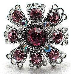 OS30 Pink Crystal Anti Tarnish Cocktail Ring