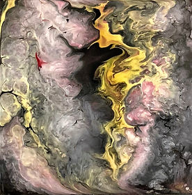 New Beginning - Abstract Fluid Acryic Art - Mixed Media