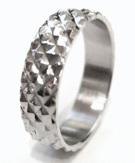 SSR2001 Raised Textured Stainless Steel Ring