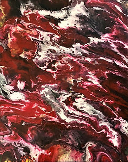 Awareness - Abstract Fluid Acryic Art - Mixed Media