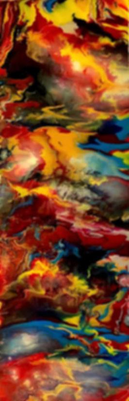 Purity - Abstract Fluid Acryic Art - Mixed Media