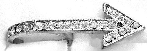 RR16 Sparkling Clear CZ Rhodium Finish Arrow Fashion Ring