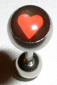 BJ105 Red Heart Picture Body Jewelry