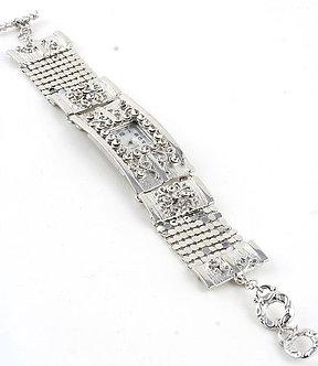 WW119 Silver Mesh Toggle Bracelet Crystal Fashion Watch