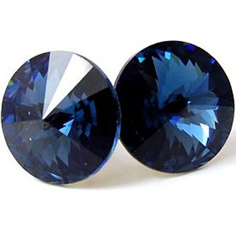 EA319 Blue Sparkling Swarovski Crystal  Post Earrings