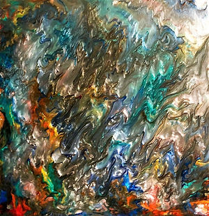 Life - Abstract Fluid Acryic Art - Mixed Media