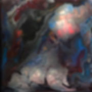 Friendliness - Abstract Fluid Acryic Art - Mixed Media