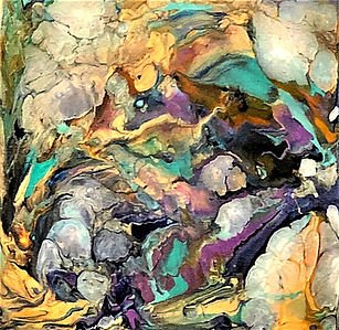 Bravery - Abstract Fluid Acryic Art - Mixed Media