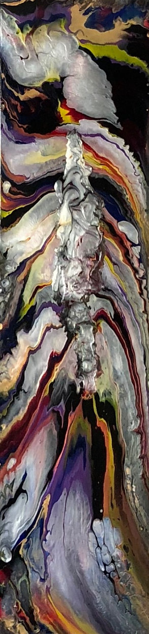 Perseverance - Abstract Fluid Acryic Art - Mixed Media