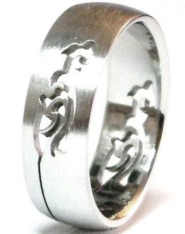 SSR15 Laser Cut Design Stainless Steel Ring