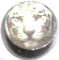 BJ83 White Tiger Face Picture Tongue Ring Barbell