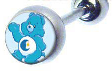 BJ108 Bedtime Carebear Cartoon Character Picture Body Jewelry