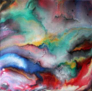 Zen - Abstract Fluid Acryic Art - Mixed Media