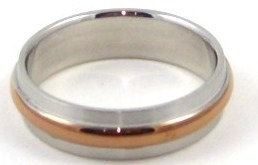 SSR1889 Satin Finish Stainless Steel Ring with Copper Band