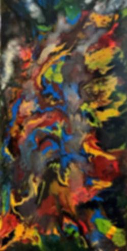 Relationship - Abstract Fluid Acryic Art - Mixed Media