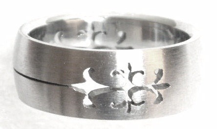 SSR46 Laser Cut Design Stainless Steel Ring