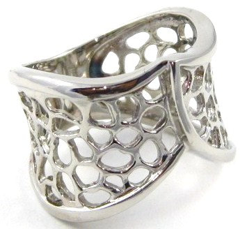 SSR2945 Filigree High Polish Stainless Steel Ring