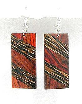 EA73 Unique Exotic Wood Dangle Earrings