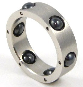 SSR1817 Black Spinning Balls Stainless Steel Ring