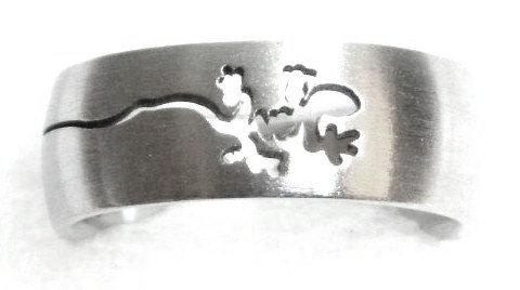 SSR38 Laser Cut Lizard Stainless Steel Ring