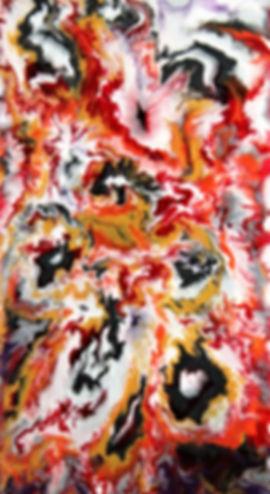 Glory - Abstract Fluid Acryic Art - Mixed Media