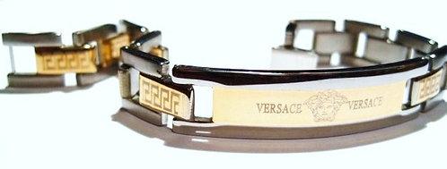SSB5790 Medusa Two Tone Stainless Steel Bracelet
