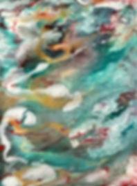 Sympathy - Abstract Fluid Acryic Art - Mixed Media