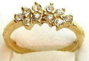 GR05 Sparkling Clear CZ High Polish 18K Gold Ring