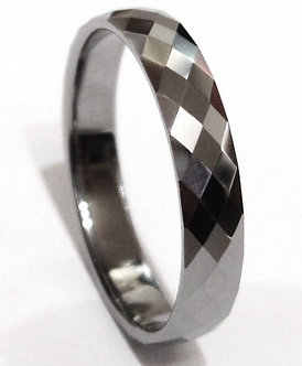 TU3021 Multi Faceted Tungsten Carbide Ring