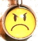 BJ101 Not Happy Face Cartoon Character Picture Body Jewelry