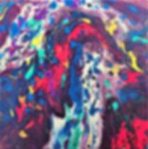 Cheers - Abstract Fluid Acryic Art - Mixed Media