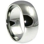 SSR31 - 8mm High Polish Plain Stainless Steel Dome Ring