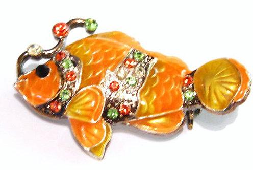 BP25 Colorful Clown Fish Crystal Brooch