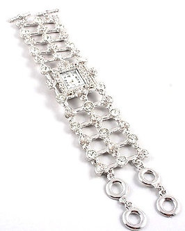 WW114 Round and Heart Shape Crystal Pave Toggle Watch