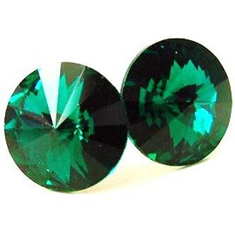 EA317 Green Sparkling Swarovski Crystal Post Earrings