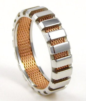 SSR4300 Unisex Copper Mesh Stainless Steel Ring