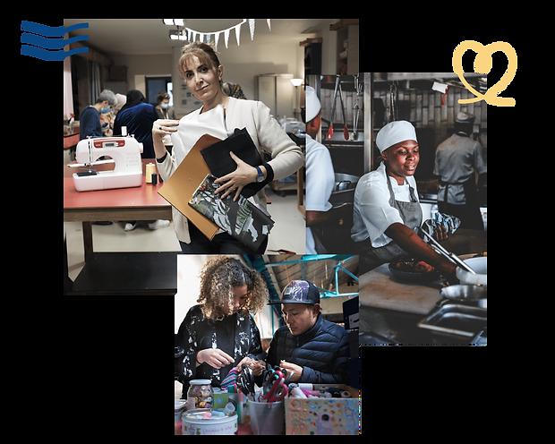 Weavers utilise les savoir-faire manuels pour créer du lien et favoriser le retour à l'emploi. Formation couture pour des personnes exilées et atelier cuisine pour des nouveaux arrivants en France