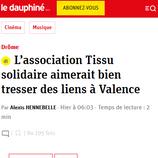 Tissu solidaire dans Le Dauphiné