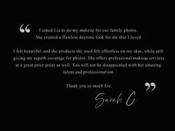 Sarah G - Testimonial