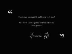 Amanda M. Testimonial