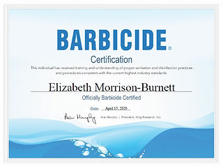 Barbicide Cert
