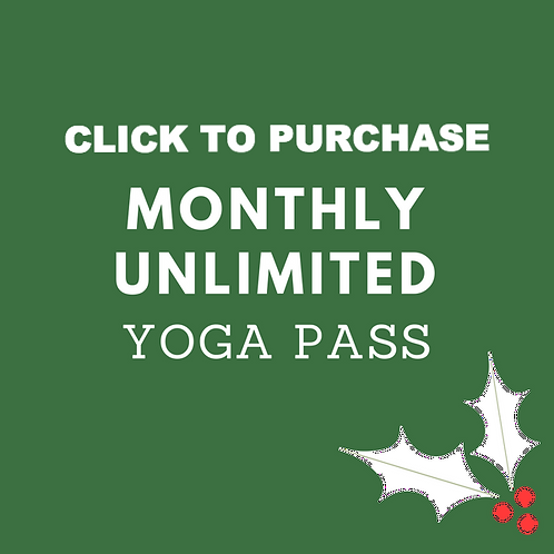 Monthly Unlimited Yoga Pass