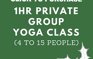 1hr Private Group Yoga Class (4 to 15 people)