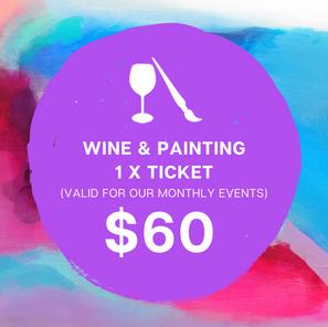 Wine & Painting 1 x Ticket