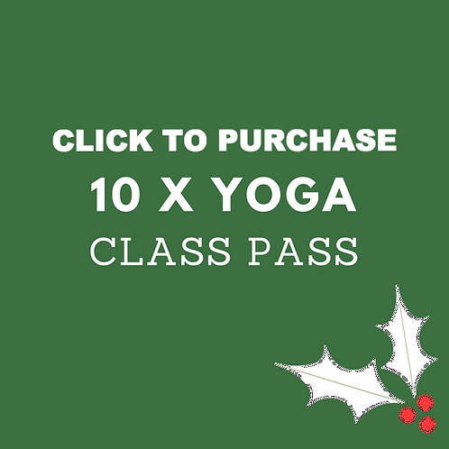 10 x Yoga Class Pass