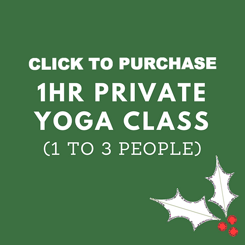 1hr Private Yoga Class (1 to 3 people)