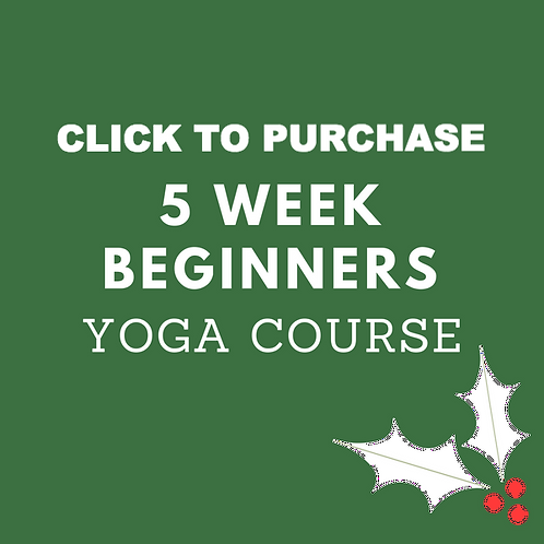 5 Week Beginners Yoga Course